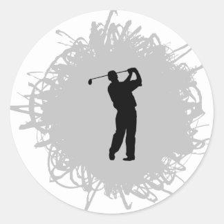 Golf-Gekritzel-Art Runder Aufkleber