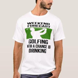 #GOLF #GOLFER #GOLFING WOCHENENDEN-PROGNOSE T-Shirt