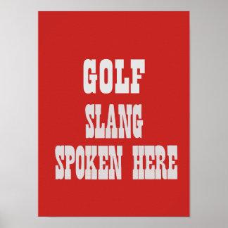 Golf-Jargonplakat Poster