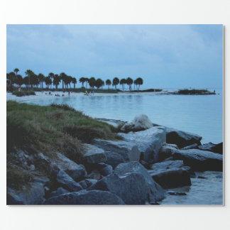 Golf-Küsten-Paradies 3 Geschenkpapier