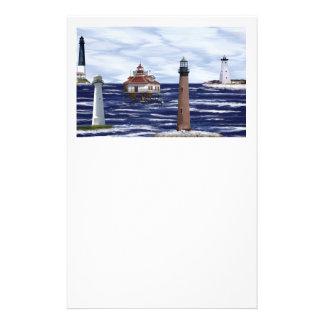 Golf-Küstenleuchttürme Briefpapier