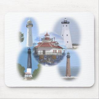 Golf-Küstenleuchttürme Mousepad