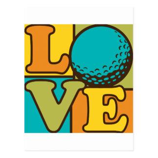Golf-Liebe Postkarte