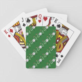 Golf mit Ziegeln gedeckte Spielkarten