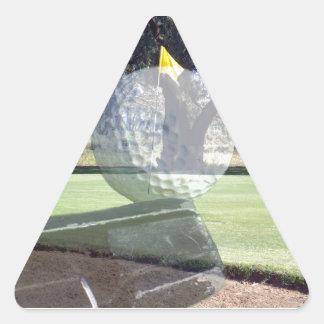 Golf-Putter, der Golfball ausrichtet, Dreieckiger Aufkleber
