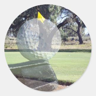 Golf-Putter, der Golfball ausrichtet, Runder Aufkleber