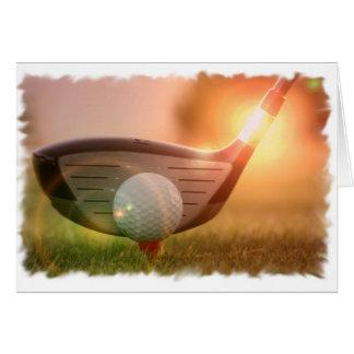 Golf-Putter-Gruß-Karte Karte