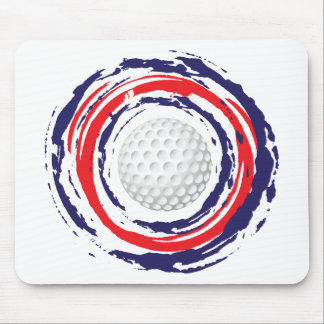 Golf-rotes Blaues und weiß Mousepad