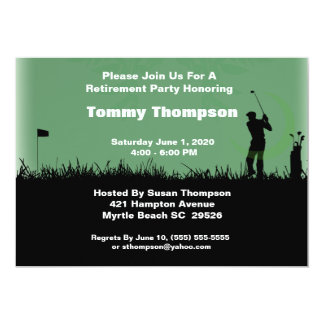 Golf-Ruhestands-Einladung 12,7 X 17,8 Cm Einladungskarte