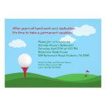 Golf-Ruhestands-Party Einladung