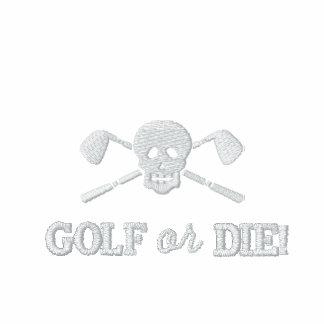 Golf-Schädel-schlechte Jungen - spielen Sie Golf Besticktes Shirt