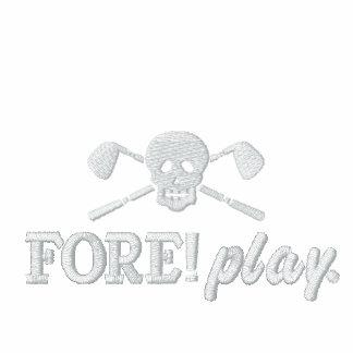Golf-Schädel-unartige Jungen - Vorder! Spiel - Bestickte Polos