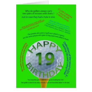 Golf scherzt Geburtstagskarte für 19 Jährige Karte
