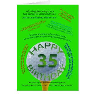 Golf scherzt Geburtstagskarte für 35 Jährige Karte