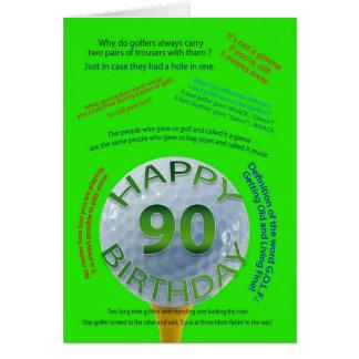 Golf scherzt Geburtstagskarte für 90 Jährige Karte