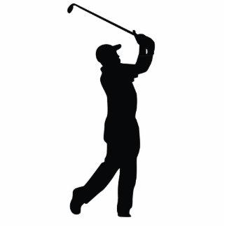 Golf-schwarzer Silhouette-Schatten Freistehende Fotoskulptur