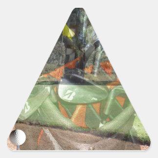Golf-Spiel-Zusammensetzung, Dreieckiger Aufkleber