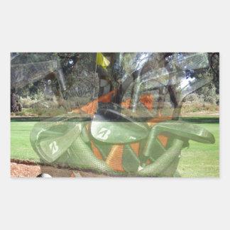 Golf-Spiel-Zusammensetzung, Rechteckiger Aufkleber