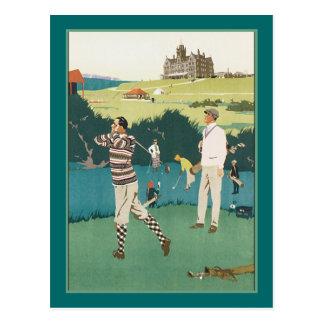 Golf spielen am Verein Postkarte