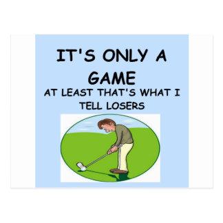 Golf spielen postkarte