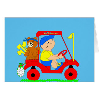 Golf spielende Babygrußkarte Grußkarte