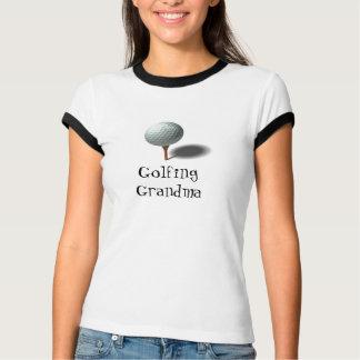 Golf spielende Großmutter T-Shirt