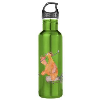 Golf spielende Hahn-Wasser-Flasche Edelstahlflasche