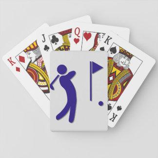 Golf spielende Spielkarten
