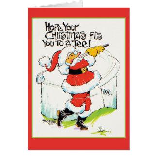 Golf spielende Weihnachtskarte Sankt Karte