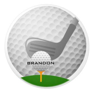 Golf spielender Entwurfs-Keramik-Zug oder Griff