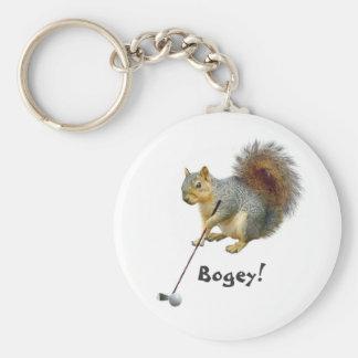 Golf spielendes Eichhörnchen Keychain Schlüsselbänder
