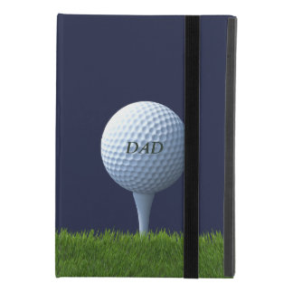 Golf spielendes Vati-Golfball-Monogramm iPad Mini 4 Hülle