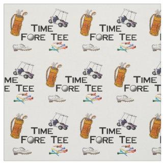 Golf spielendes Zeit-Vordert-stück Stoff