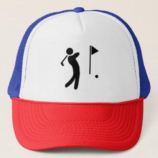 Golf-Spieler-Silhouette Truckerkappe