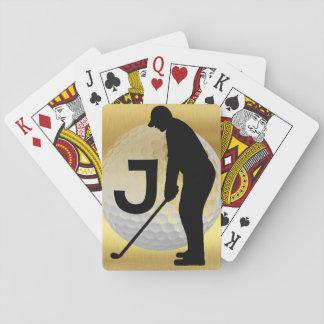 Golf-Spieler Spielkarten