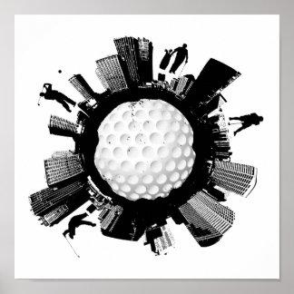 Golf-Stadt Poster