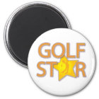 Golf-Stern Runder Magnet 5,7 Cm