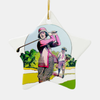 Golf-Stern-Verzierung Keramik Ornament
