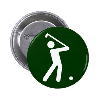 Golf-Symbol-Knopf Runder Button 5,7 Cm