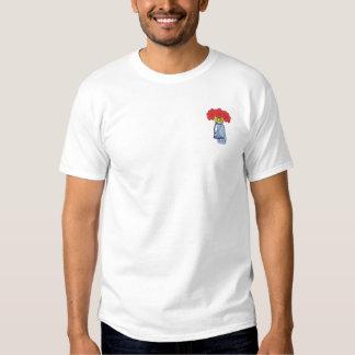 Golf-Tasche mit Blumen Besticktes T-Shirt