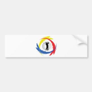 Golf-Tricolor Emblem Autoaufkleber