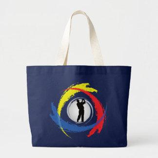 Golf-Tricolor Emblem Jumbo Stoffbeutel