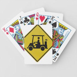Golf-Überfahrtzeichen Bicycle Spielkarten