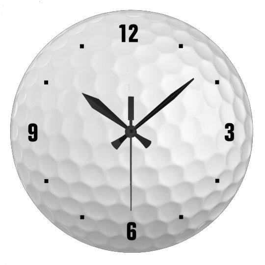 golf uhr gro e wanduhr zazzle. Black Bedroom Furniture Sets. Home Design Ideas