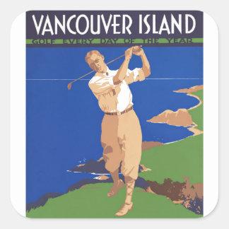 Golf-Vancouver-Insel Kanada Quadrat-Aufkleber