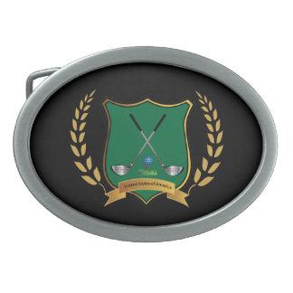 GOLF Wappen, Golf-Vereine, Logo, cool Ovale Gürtelschnallen