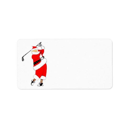 Golf-Weihnachten Adressaufkleber