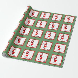 Golf-Weihnachten Geschenkpapier
