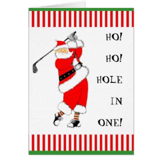 Golf-Weihnachten Grußkarte