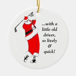 Golf-Weihnachten Keramik Ornament